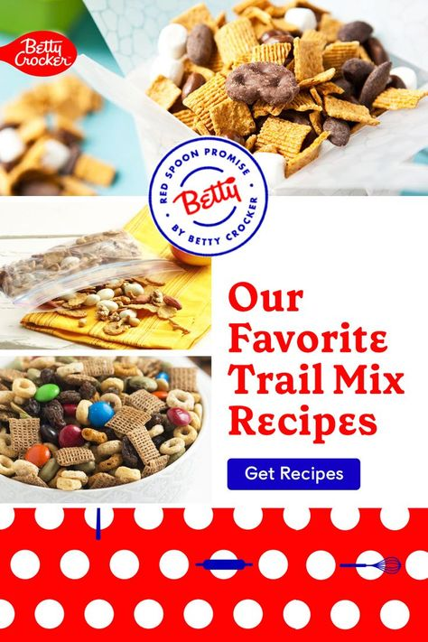 Our Favorite Trail Mix Recipes include trail mix bars, cookies and snacks. Pin today for snacks kids will love.