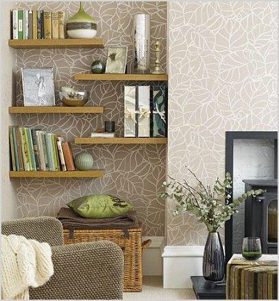 Shelf Decorating Ideas Living Room Comfy Alcove Design Wall Shelves