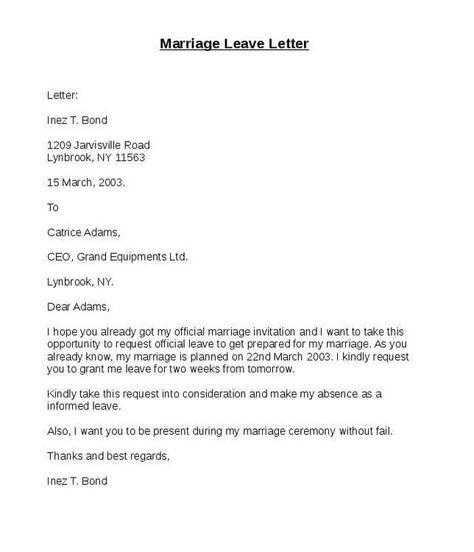 5 Leave Letter Sample Formats Lettering Letter Sample Word Doc
