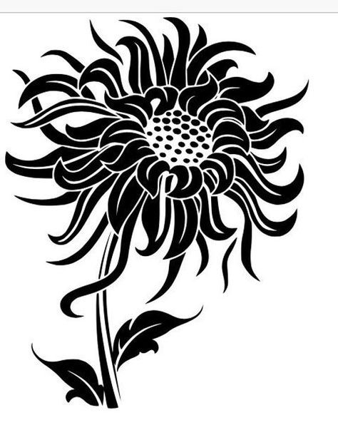 Sunflower SVG B&W and Color