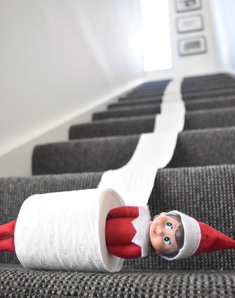 10 hysterical new Elf on the Shelf ideas Elf on the Shelf toilet roll