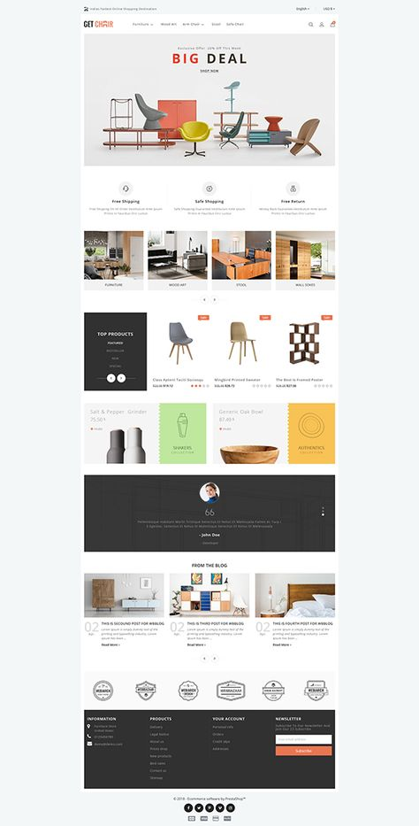 GetChair Furniture Store Template