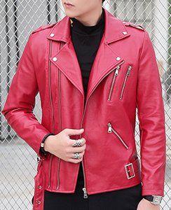David Ann Men S Classic Faux Leather Biker Zipper Jacket Coat At Amazon Men S Clothing Store Zipper Jacket Jackets Coats Jackets