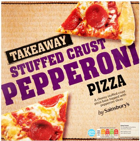 Sainsburys Stuffed Crust Pepperoni Pizza 424g Compare