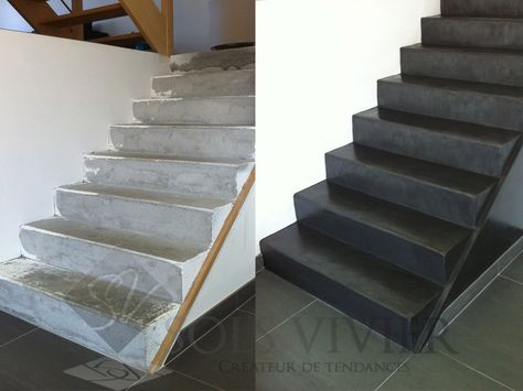 Comment réaliser un escalier en béton ciré en rénovation - peindre sur un enduit cire