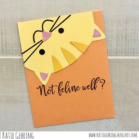 Paper Smooches Critter Card Puns stamp set, Bear Frog Card dies and Cat Dog dies - kids cards Dog Cards, Kids Cards, Baby Cards, Handmade Birthday Cards, Greeting Cards Handmade, Tarjetas Diy, Pun Card, Paper Smooches, Homemade Cards