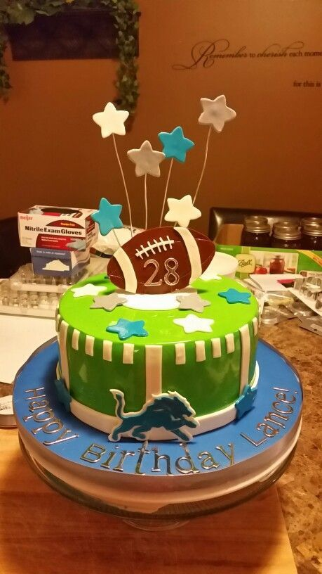 Peachy Food Lion Birthday Cakes Lovely Detroit Lions Cake Funny Birthday Cards Online Hetedamsfinfo