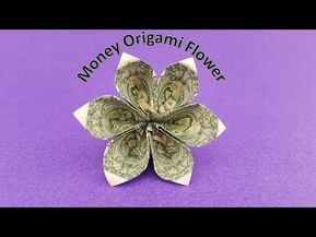 EASY Money FLOWERS Origami Dollar Tutorial DIY Folded No glue and ... | 217x289