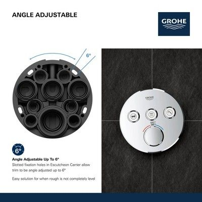 Grohe America Inc 29 138 Grohtherm Triple Function Thermostatic