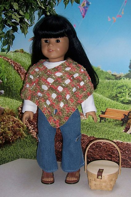 Ravelry Free Crocheted Vintage 1970s Doll Poncho Pattern By Janice