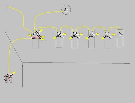 how to wire two light switches with 2 lights with one power supply diagram