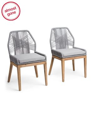 Set Of 2 Rope Crossweave Side Chairs Seating T J Maxx In 2020