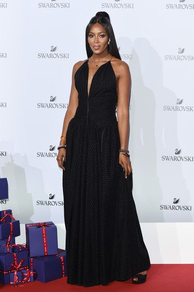 Naomi Campbell attends the Swarovski Crystal Wonderland Party.