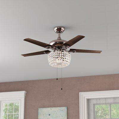 Astoria Grand 43 Aslan 5 Blade Ceiling Fan Light Kit Included