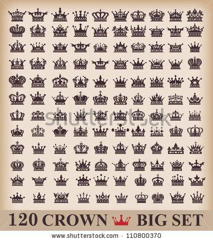Vintage Crown Tattoo » Thpho.com - Stock Photos & Vectors