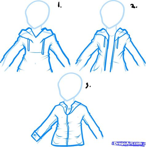 How+to+Draw+Realistic+People   how to draw a hoodie, draw hoodies step 1