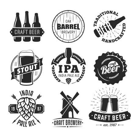 Stock Vector Beer Logo Design Craft Beer Labels Craft Beer