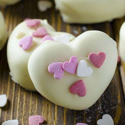 Hand dip those Oreos - Valentine's Day Treats for Kids - Photos