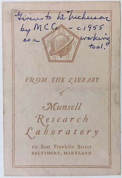 Crayon History: The label from a box of Munsell Crayons from circa ...