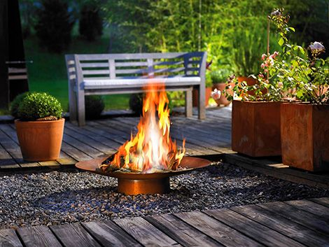 Perfect Modern Outdoor Gas Fire Collection by Attika Home Interior Abode yard Pinterest