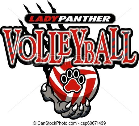 Lady Panther Volleyball Csp60671439 Volleyball Designs Volleyball Clipart Volleyball