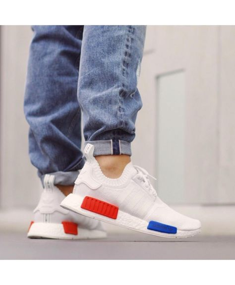 Adidas Nmd Vintage White Blue Red Trainers | Twinkle Toes in