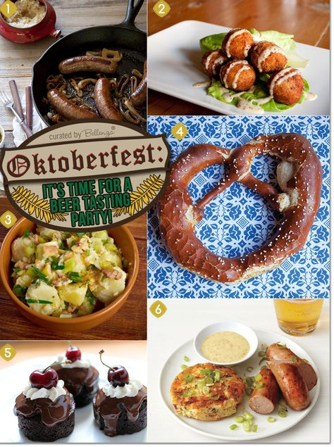 Oktoberfest Party Ideas: Recipes and Beer Brews to Serve! – Bellenza Oktoberfest Party Ideas: Recipes and Beer Brews to Serve! Oktoberfest food ideas from bratwurst to sauerkraut fritters to black forest cake Oktoberfest Party, Oktoberfest Hairstyle, German Oktoberfest, Oktoberfest Recipes, German Appetizers, Beer Tasting Parties, Polynesian Food, Black Forest Cake, Gourmet