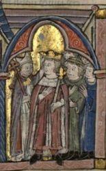 Coronation of Baldwin IV of Jerusalem (1161-1185) Son of Amalric I of Jerusalem and Agnes of Courtenay.