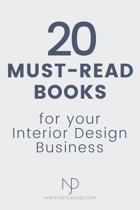 20 must-read books for your Interior Design business. go-to books book recommendations for interior design students and beginners. design business 20 Go-To Interior Design Books for Students and Beginners — Nicole Janes Design Interior Design Basics, Interior Design Classes, Interior Design Minimalist, Interior Design Books, Vintage Interior Design, Interior Design Business, Room Layout Planner, Design Scandinavian, Design Loft