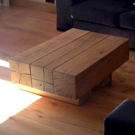 Beautifully Crafted Oak Beam Coffee Tables 3 Beam Top