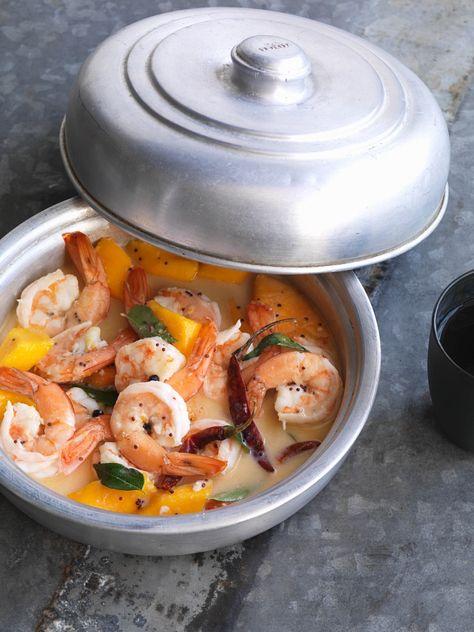 Köstlich einfaches Garnelen-Curry mit Mango | http://eatsmarter.de/rezepte/garnelen-curry-mit-mango