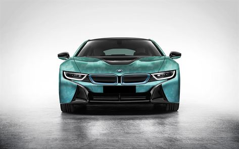 Download Wallpapers Bmw I8 Sports Electric Car Camouflage Green