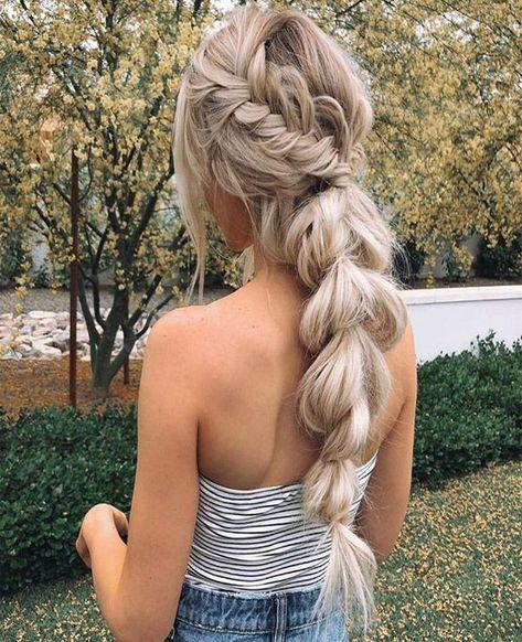12 Easy Braids For Long Hair - Hair & Beauty that I love Teen Hairstyles, Box Braids Hairstyles, Wedding Hairstyles, Unique Hairstyles, Everyday Hairstyles, Hairstyle Ideas, Indian Hairstyles, Straight Hairstyles, Baddie Hairstyles
