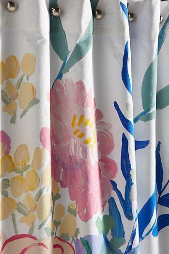 Paint Petals Shower Curtain Anthropologie Shower Curtain