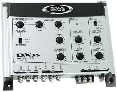 Boss Audio Bx35 3 Way Pre Amp Car Electronic Crossover In 2020 Boss Audio Car Electronics Subwoofer