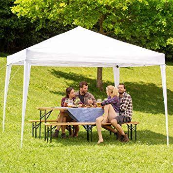 Tectake Tonnelle De Jardin Tente Reception Pavillon Barnum Chapiteau 3x3m Pliante Pliable Diverses Couleurs Au Choix B Pavillon De Jardin Pavillon Jardins