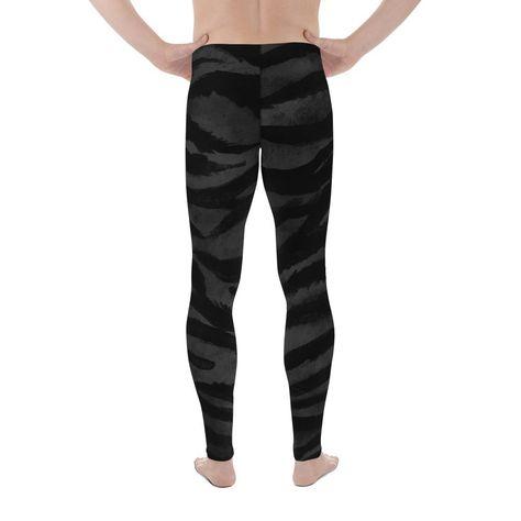 9b12874407185 Kago Boss Black Tiger Stripe Men's Yoga Pants Running Leggings & Tight –  heidikimurart