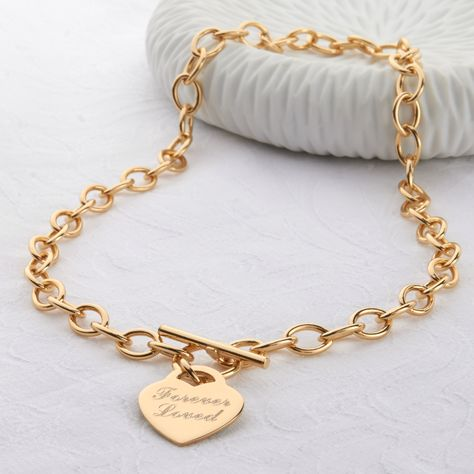 Personalised 18ct Gold Charm Chain Necklace