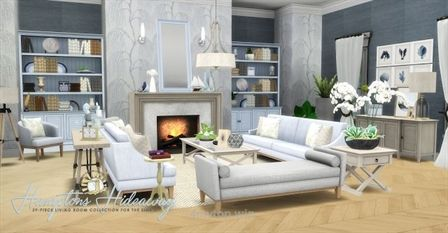 Sims 4 CC's – The Best: Hampton Hideaway Living Room Set by Peacemaker ic…