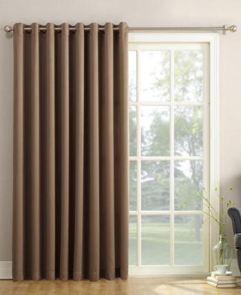 Sun Zero Grant 100 X 84 Grommet Top Patio Curtain Panel Reviews Home Macy S Sliding Door Coverings Patio Door Curtains Sliding Door Blinds