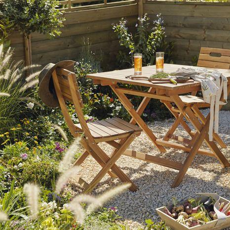 Table De Jardin 4 Personnes Denia Brico Depot Table De Jardin Meuble Jardin