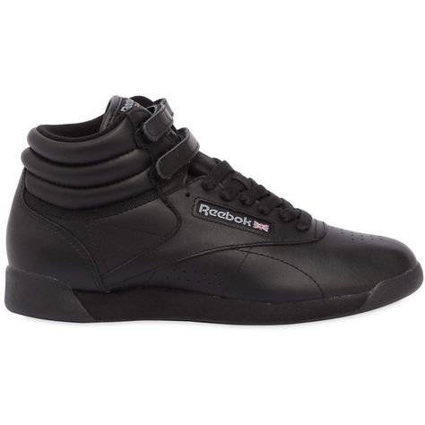 Reebok Classics Women Freestyle Leather High Top Sneakers ( 84) ❤ liked on Polyvore  featuring 884c7ca49