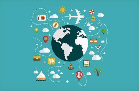 デザインや資料作成に便利 無料ダウンロードできる世界地図ベクター素材25個まとめ 旅行イラスト 世界地図 無料のベクター素材