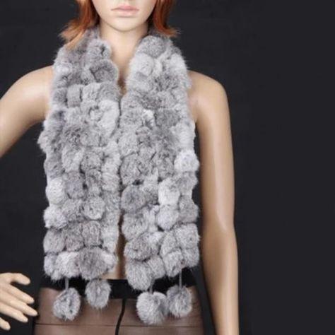 Winter Warm Women Scarves Faux Rabbit Fur Lady Casual Fur Scarves Ball Velvet