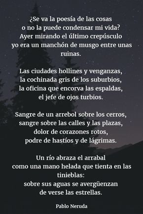 Poemas De Pablo Neruda 11 Poemas De Neruda Poemas Poemas Románticos