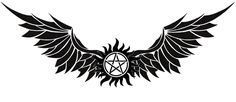 Supernatural anti-possession tattoo with wings-underboob tattoo