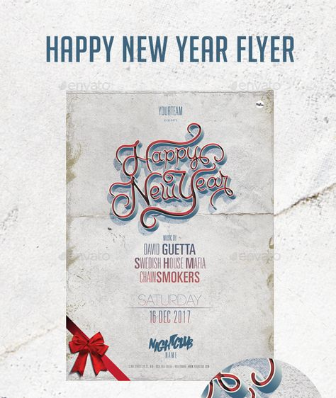 Happy New Year Flyer | New Year Party Flyer Templates | Pinterest ...