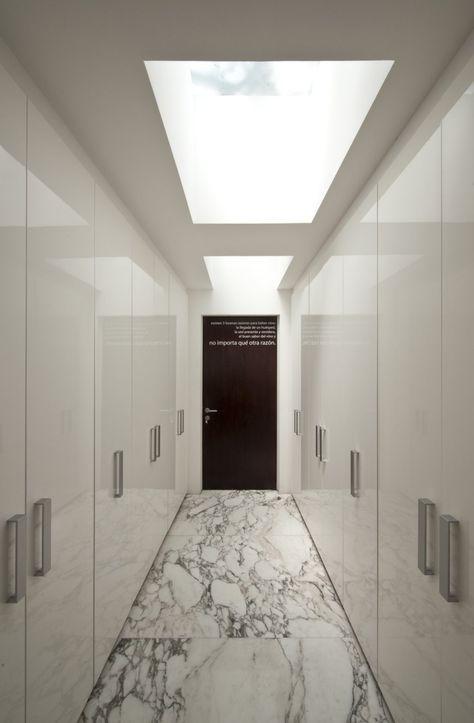 Awesome modern walk-in closet. #wardrobe, #modern, #stone finish, #ducco finish