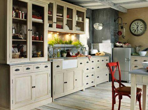 Cocinas Vintage Decoracion De Cocina Gabinetes Cocina Y
