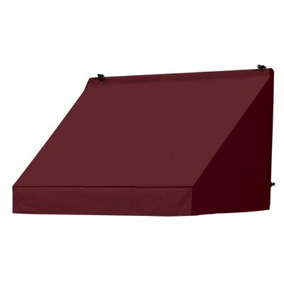 Idm Worldwide Awnings In A Box Classic 4 Ft W X 2 Ft D Retractable Window Awning Color Burgundy Window Awnings Outdoor Shade Classic